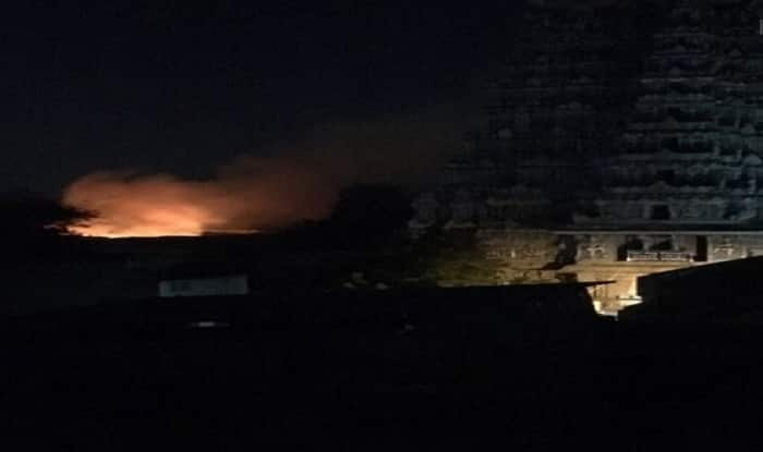 Big fire destroys shops at Meenakshi Amman temple