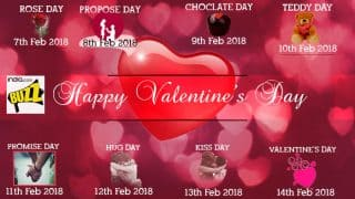 Valentine Week List 2018: Rose Day, Propose Day, Kiss Day, Chocolate Day and List of Days to Celebrate Until Valentine's Day