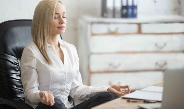 5 Yoga Asana You Can Do At Your Work Desk For Stress Relief India Com