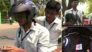 कर्नाटक के छात्र ने बनाया रास्ता बताने वाला हेलमेट, कीमत 15 सौ रुपये