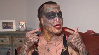 Transgender Woman Spends More Than 40000 Pounds to Look Like Dragon; Gets Forked Tongue, Tattooed Scales and Eight Horns (Video)