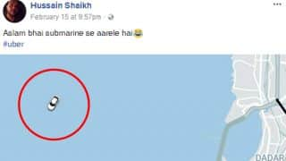 Mumbai Uber Driver's Location Was Somewhere In The Middle Of Arabian Sea