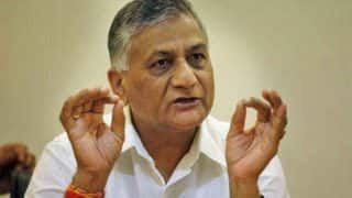 VK Singh Dismisses Akhilesh Yadav's Idea of Army Deployment in Ayodhya, Says Centre Enough to Tackle Situation