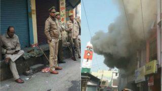 Kasganj Violence: Tension Resurfaces as Place of Worship Gate Set Afire, 2 Cops Suspended