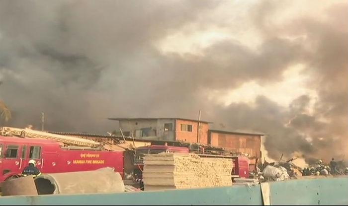 Massive fire breaks out in shop near Maya Hotel in Mankhurd
