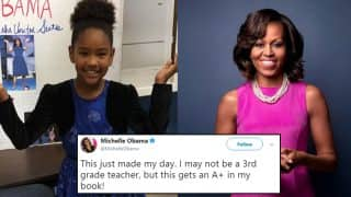 9-year-old Girl Dressed up as Michelle Obama for School Project, Former First Lady Gives A+ After Getting Impressed With Photo
