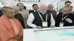 PM Narendra Modi Inaugurates UP Investors Summit 2018 in Lucknow, Mukesh Ambani Says Jio Among Largest Investors in Uttar Pradesh