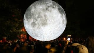 Giant Moon Replica Graces Mumbai's Gateway of India Over Weekend