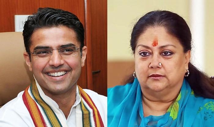 Rajasthan Congress President Sachin Pilot and Chief Minister Vasundhara Raje