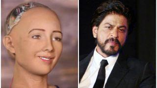 लड़कियां ही नहीं रोबोट सोफिया भी करती है रोमांस के किंग शाहरुख को पसंद