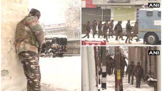 श्रीनगरः CRPF कैंप के बाहर बिल्डिंग में छिपे आतंकी, मुठभेड़ में एक जवान शहीद