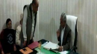 VIDEO: सहारनपुर के डीएम ने दी गला काटने की धमकी, वीडियो हुआ वायरल