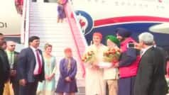 Canada PM Justin Trudeau Received by Hardeep Puri, Navjot Singh Sidhu in Amritsar, Visits Golden Temple With Family