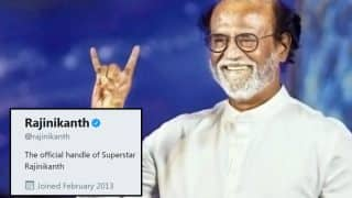 Rajinikanth Removes Superstar Tag From His Twitter Handle, Establishes That He Is Just Like Us