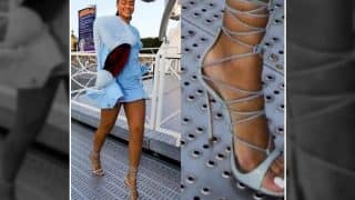 Rihanna's Pictures of Walking on Grates in Heels Leaves Twitterati Stumped