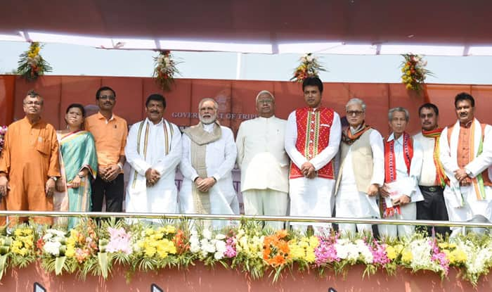 BJP-led government led by Biplab Kumar Deb takes office in Tripura