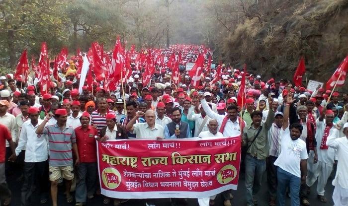 farmers long march के लिए इमेज परिणाम