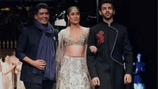 Kareena Kapoor Khan And Kartik Aaryan Walk The Ramp For Manish Malhotra's Summer Couture Collection 2018 In Singapore
