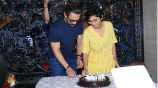 Aamir Khan Cuts His Birthday Cake With Wife Kiran Rao And Son Azad - Watch Video