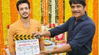Akhil Akkineni's Third Film Launched; Akkineni Nagarjuna, Dulquer Salmaan Attend Event At Annapurna Studios (PICS)