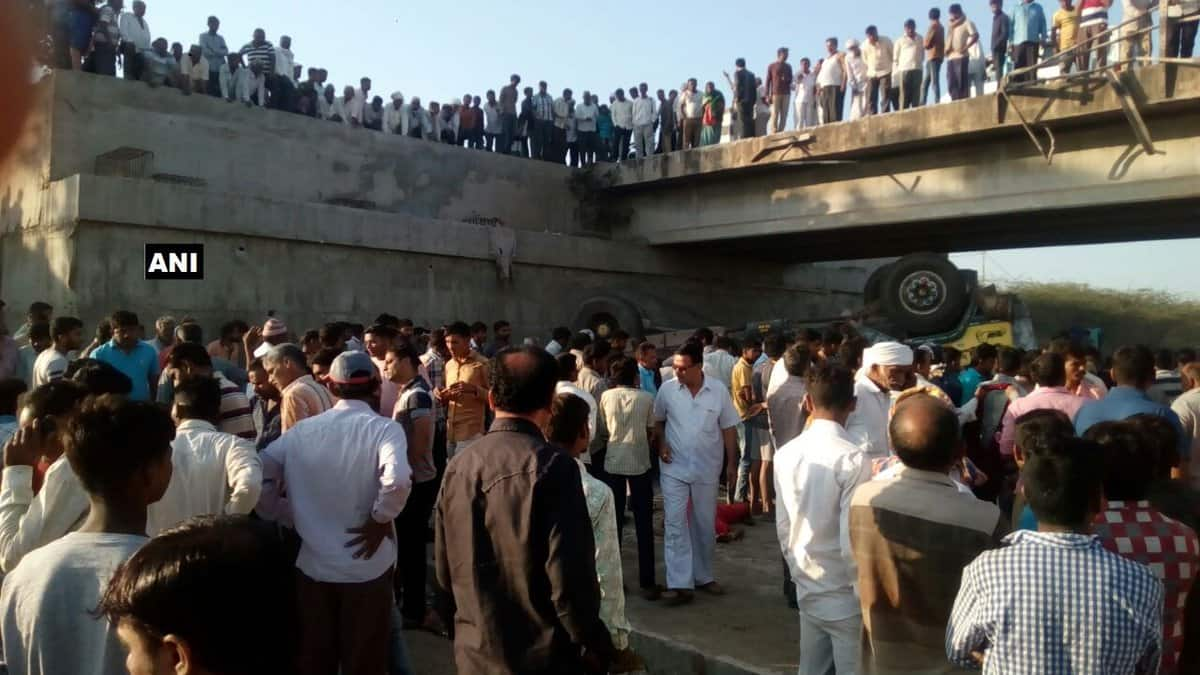 27 die as truck falls into water channel in Gujarat