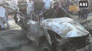 यूपी के महोबा में पत्थर खदान में गिरी कार, मामा-भांजे की मौत