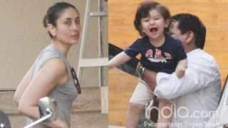 Taimur Ali Khan Can't Stop Squealing With Joy In These New Pictures With Kareena Kapoor Khan