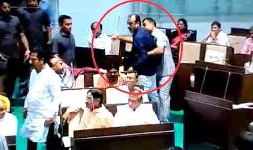 Congress, BJP MLAs Exchange Blows Inside Gujarat Assembly