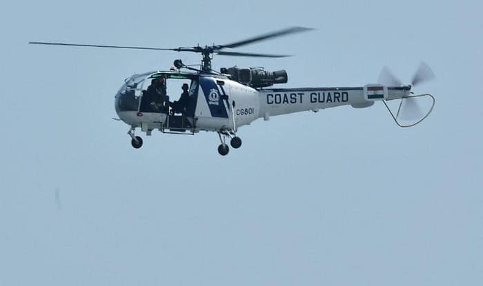Indian Coast Guard helicopter crash lands in Maharashtra's Raigad, pilot injured