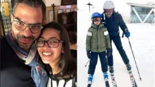 Karisma Kapur's Kids, Samaira And Kiaan, Evade The Mumbai Heat And Enjoy A Snowy Vacay With Daddy Sanjay Kapur