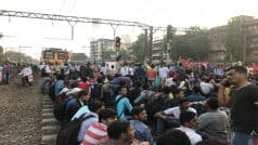 Mumbai Local Central Line Stalled For 4 Hours as Students Demanding Jobs Carry Out Rail Roko, Commuters Suffer; Trains, Road Traffic, Dabbawala Service Affected