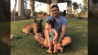 Video of MS Dhoni Spending Quality Time with His Wife, Daughter and Dogs is Family Goals!