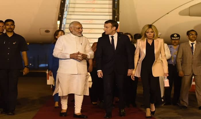 France's Emanuel Macron Arrives In India, Gets PM Modi's Hug: 10 Points