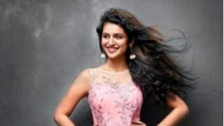 Priya Prakash Varrier Spotted in Wedding Reception Wearing Glittery Peach Saree; Pictures Goes Viral