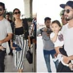 Shahid Kapoor Leaves For A Family Vacay With Mira And Misha And We Love How He Cannot Take His Eyes Off His Little One (PICS)