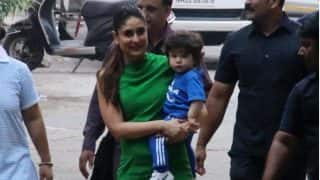 Taimur Ali Khan Accompanies Kareena Kapoor Khan To Work And Looks Amused At All That's Going On (PICS)