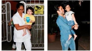 Kareena Kapoor Khan's Son Taimur Hangs Out With Tusshar Kapoor's Son Laksshya Kapoor; GivesShutterbugs A Cute Smile Before Zooming Off (PICS)