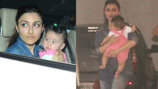 Soha Ali Khan and Inaaya Naumi Kemmu Go Out For A Joy Ride But The Little One Can't Stop Staring At The Shutterbugs - View Pics