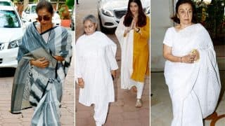 Aishwarya Rai Bachchan, Dimple Kapadia, Asha Parekh And More Bollywood Celebs At Shammi Aunty's Prayer Meet