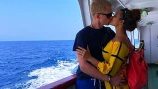 Aashka Goradia Shares A Scorching Hot Lip Lock With Husband Brent Goble - See Pic