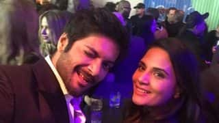 Ali Fazal Shares A Picture With Richa Chadha, Accidentally Photobombed By Leonardo Di Caprio At The Pre-Oscars Party- View Post