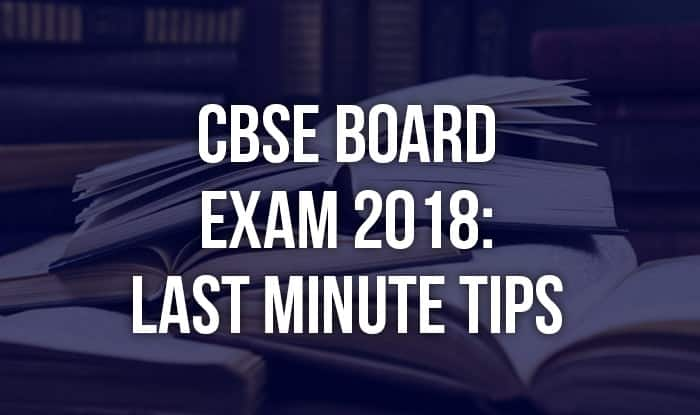 CBSE Board Exams 2018 For Class X, XII Begin Today