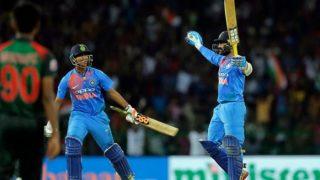 Nidahas T20 Tri-Series Final: Dinesh Karthik Hits Last Ball Six to Help India Win, Watch Video