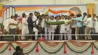 Karnataka Assembly Elections: Seven Rebel Janata Dal (Secular) MLAs Join Congress in Presence of Rahul Gandhi in Mysuru