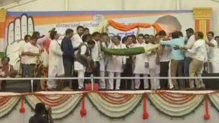 Karnataka Assembly Elections: Seven Rebel Janata Dal (Secular) MLAs Join Congress in Presence of Rahul Gandhi in Mysuru