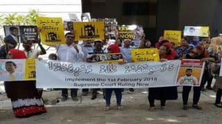 Protesters in Colombo Ask Maldives President Abdulla Yameen to Resign