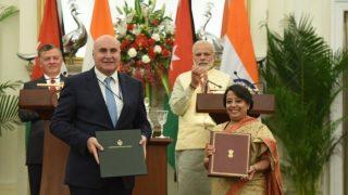 भारत और जार्डन के बीच रक्षा सहयोग समेत 12 समझौतों पर हस्ताक्षर