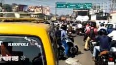 Mumbai Traffic Update: Jam at Eastern Express Highway, Sion Due to Rail Roko Protest on Central Line by Students Demanding Jobs in Railways