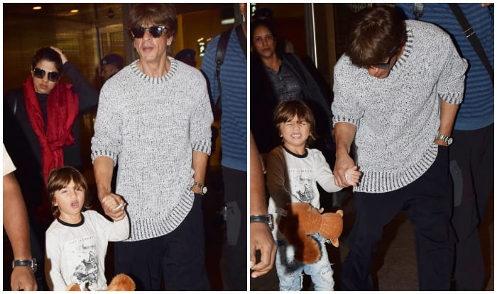Shah Rukh Khan Returns Back To The Bay With Son Abram After His Swiss Vacation