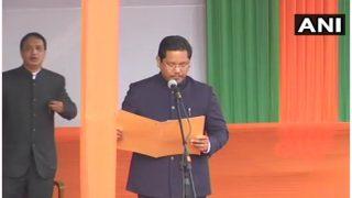 मेघालय में कोनराड संगमा ने ली मुख्यमंत्री पद की शपथ, राजनाथ बोले- ध्वस्त किया मिथक